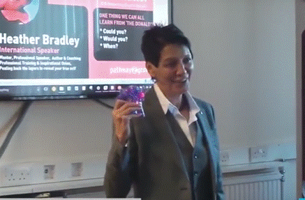 Heather Bradley speaking at Walsall Coffee and Natter event