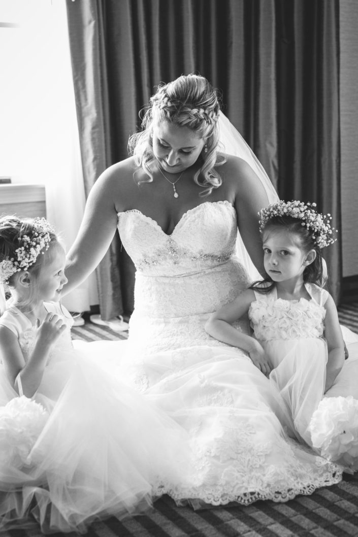 flower girls and bride pennsylvania