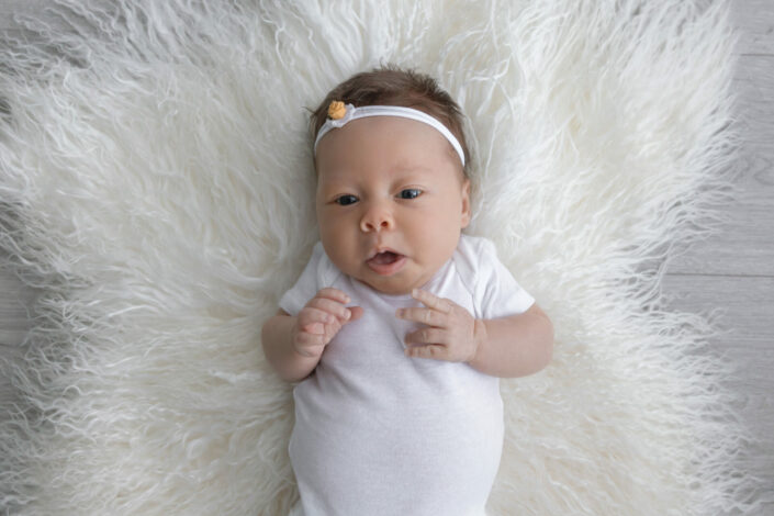white studio newborn