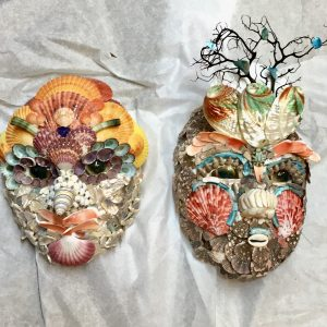 Each seashell mask is different!