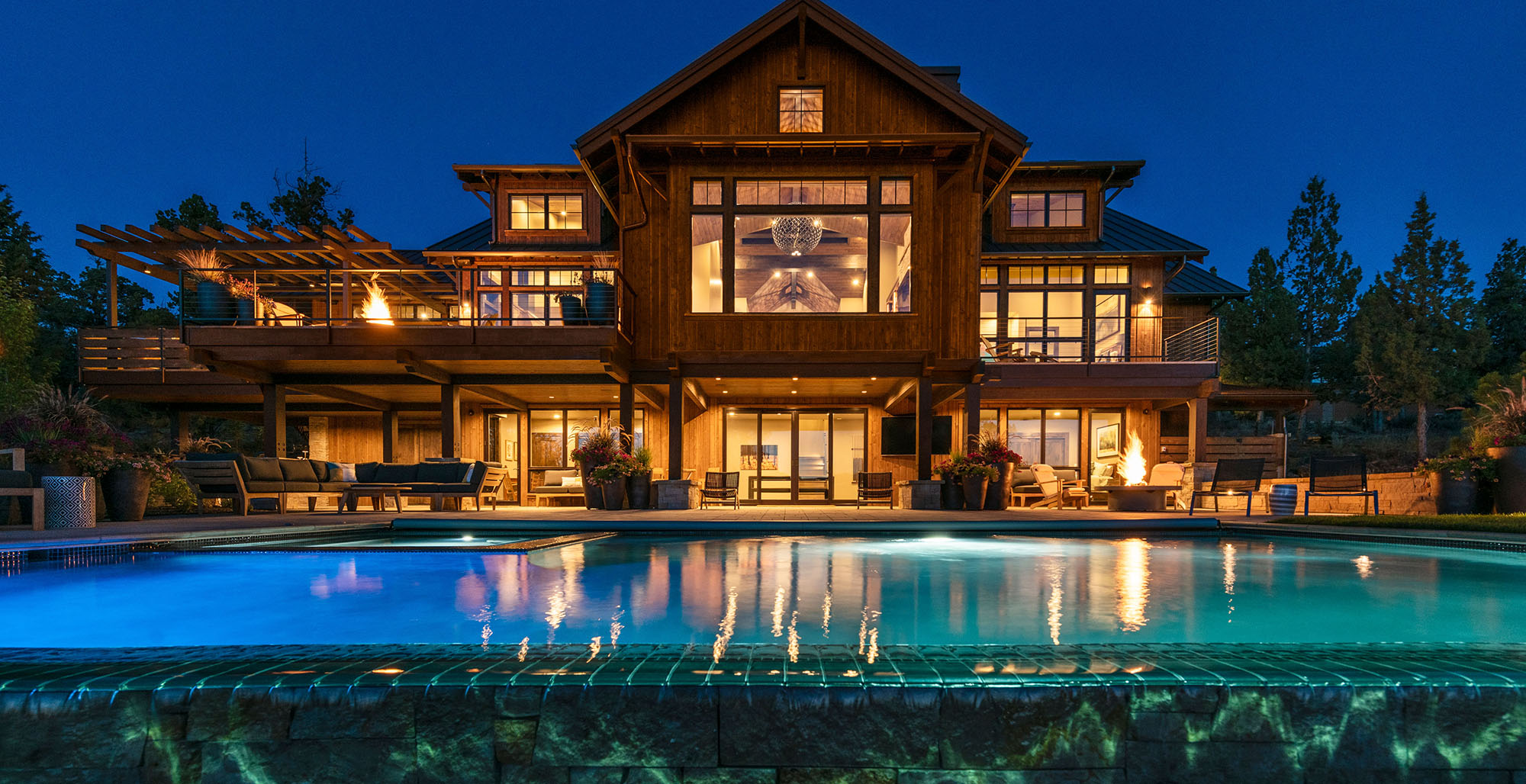 NW Lodge Style Home and Landscape