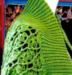 Eva Slip Stitch Ribbing Shrug: Slip Stitch Crochet