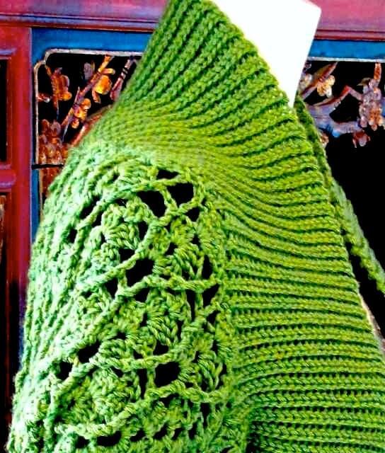 Eva Slip Stitch Ribbing Shrug: Slip Stitch Crochet