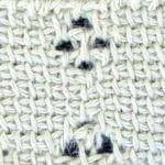 Clustered Tunisian eyelet mesh