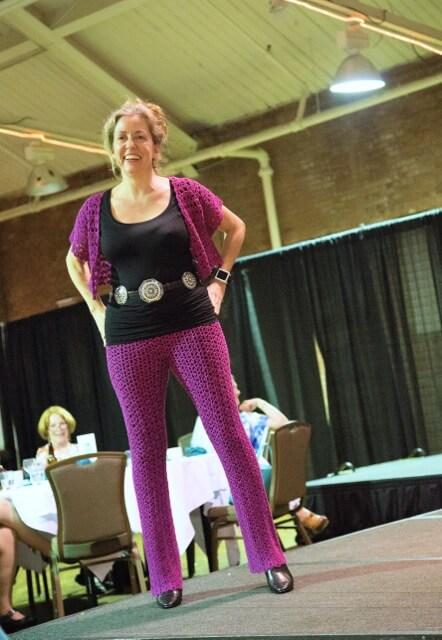 Vashti Braha models Doris Chan's crochet designs in Lotus yarn.
