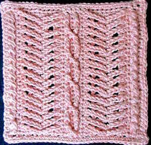 Brighid's Willow afghan block contributed to a pattern booklet.
