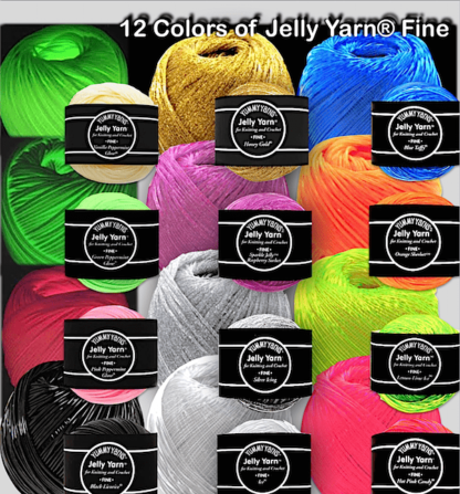 Jelly Yarn Fine Weight, all 12 colors!