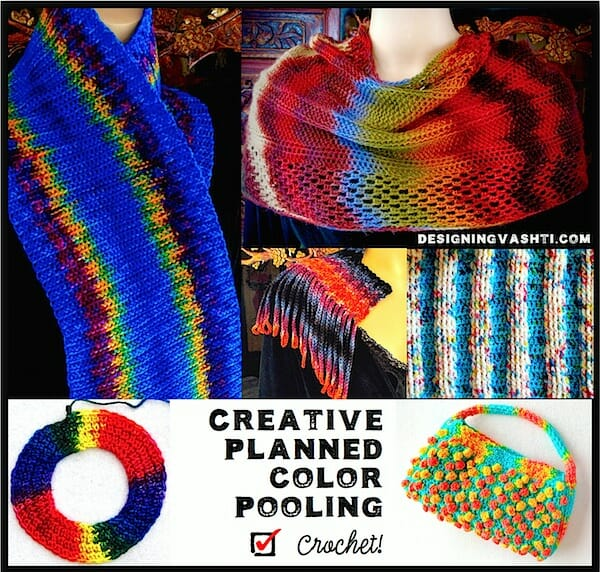 Creative Planned Color Pooling Crochet Class 2018 Vashti Braha