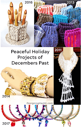 Relaxing & rejuvenating holiday crochet projects of Decembers past (2011-2017)