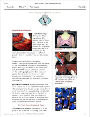 """Thumbnail of issue #78 of Vashti's Crochet Inspirations newsletter: """"Mindbending Mobius"""""""