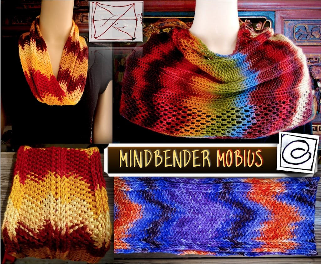 Mindbender Mobius crochet class for CGOA conference
