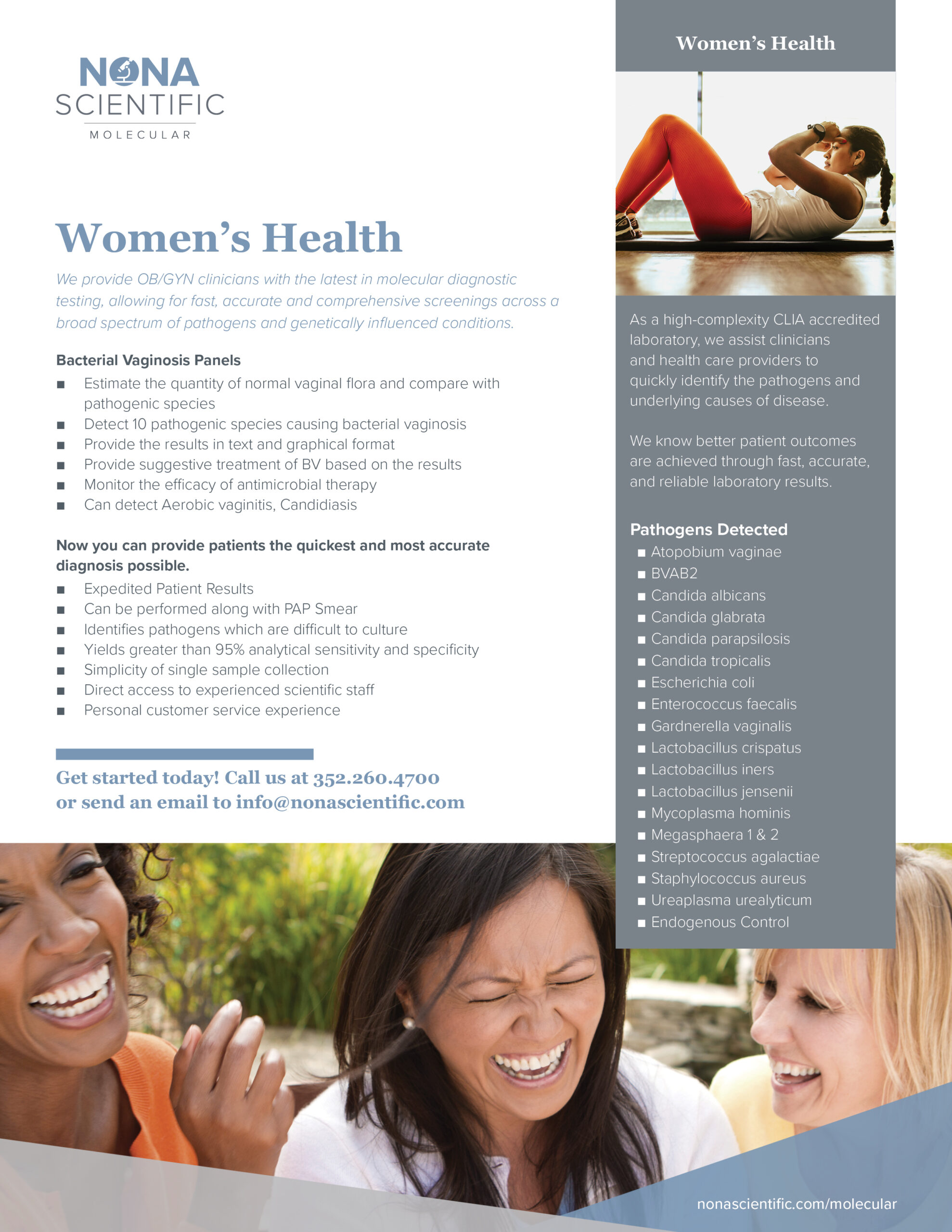 Nona Scientific Women's Health Panel Marketing
