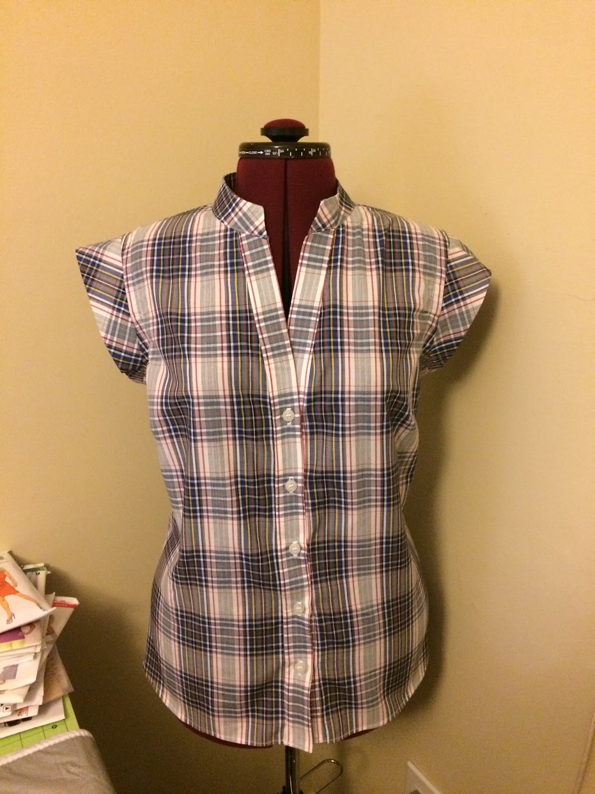 Simplicity 2255 Plaid Top