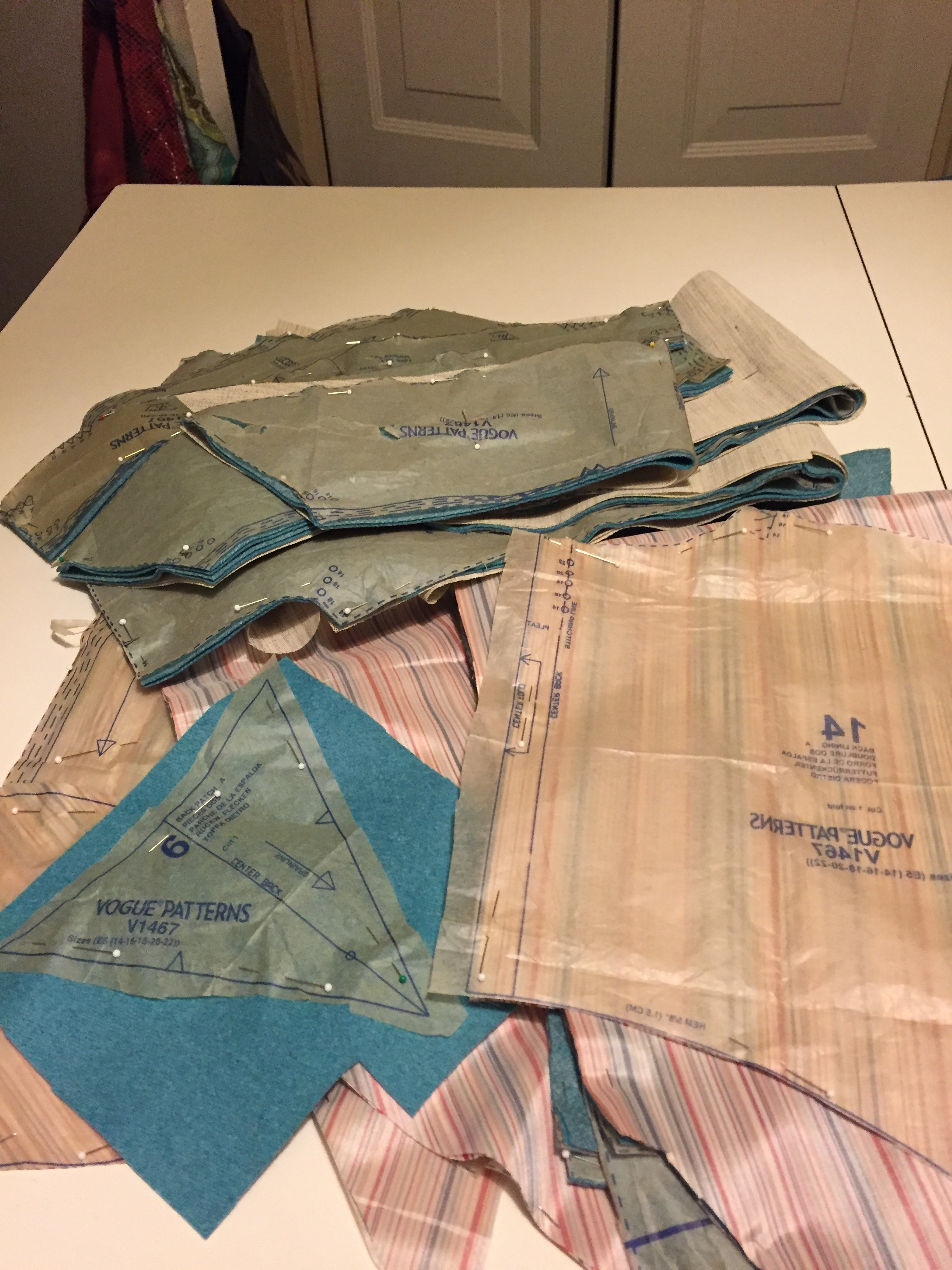 To Muslin or not Muslin, Pattern Layout, and Cutting