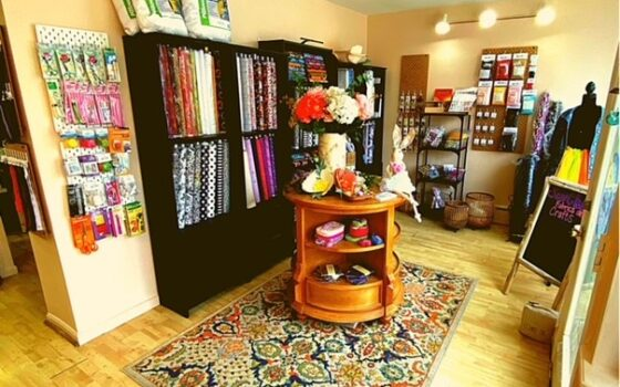 Inside Sew Chic Fabrics and Crafts