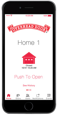 iphone app for garage door