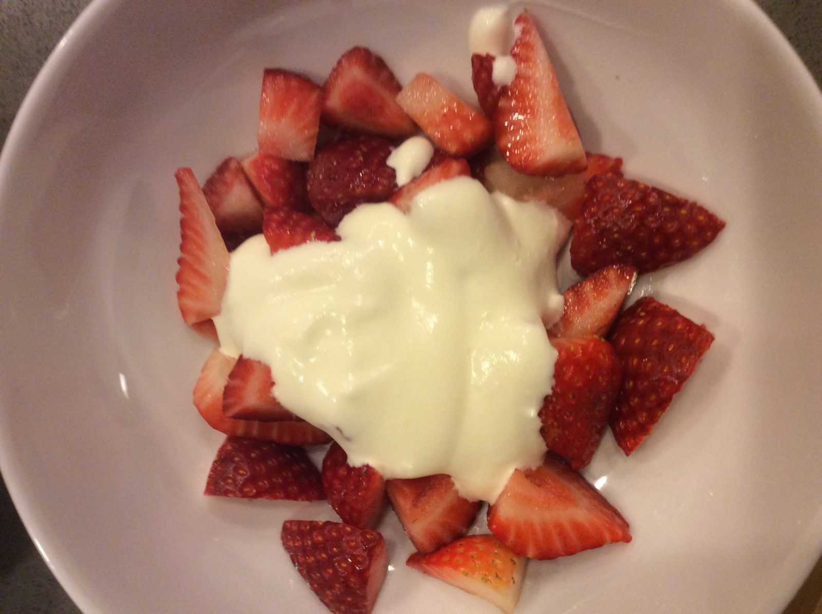 Strawberries with Basil Infused Cream