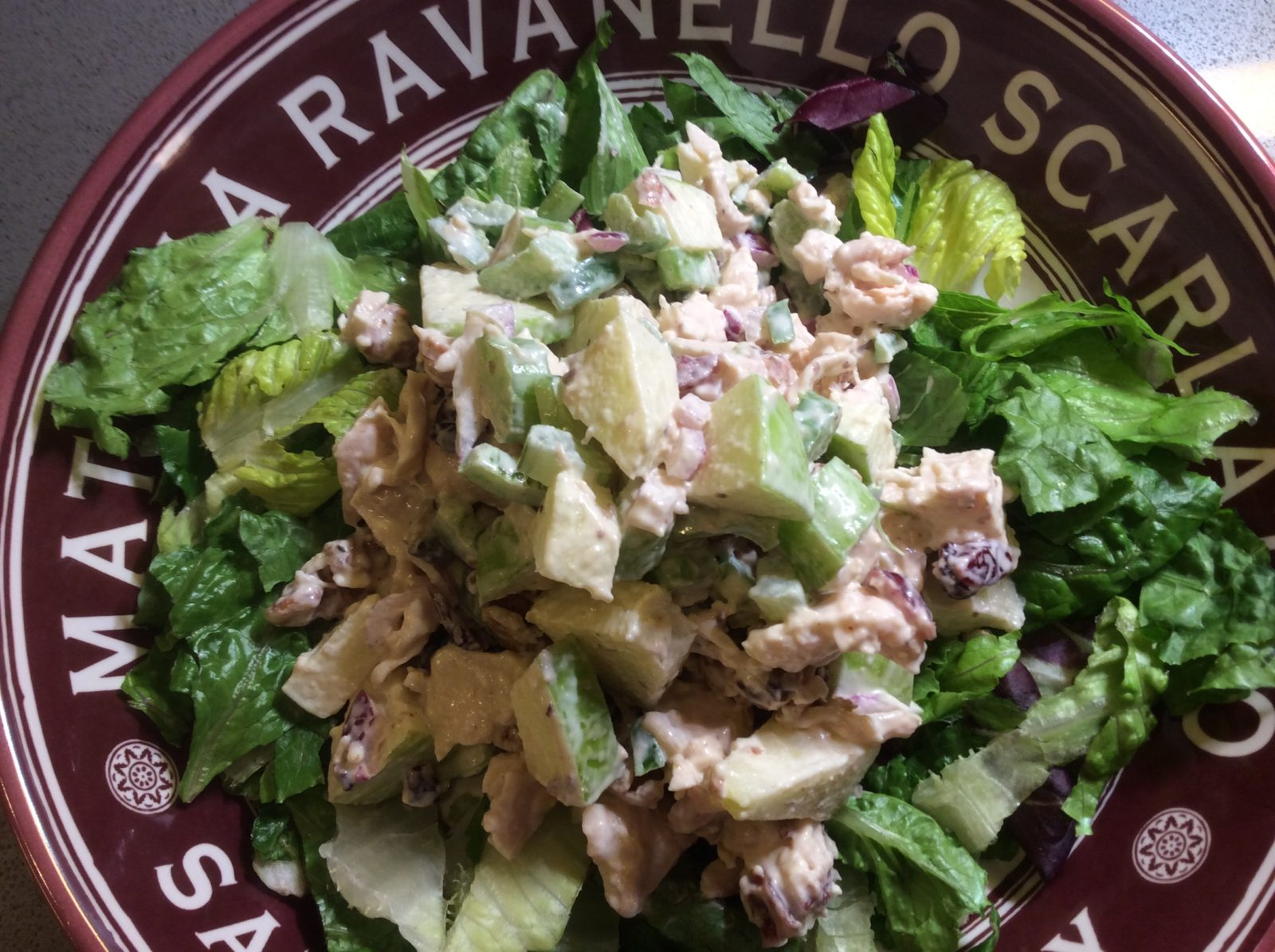 Zippy Chicken Cranberry and Walnut Salad