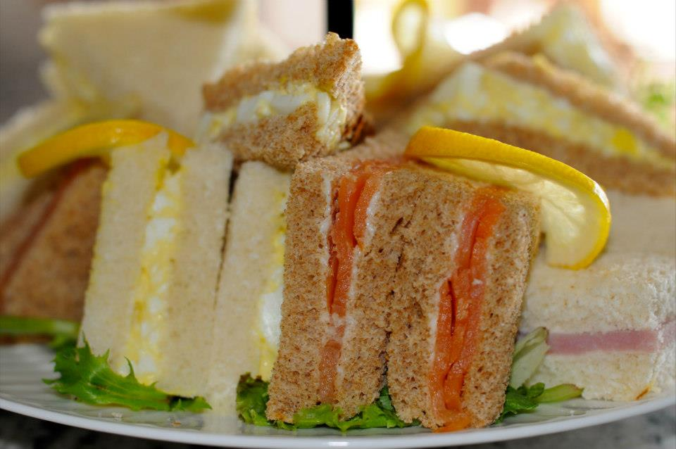 Coronation Chicken and other Tea Sandwiches (Includes Mango Salsa and Mango Chutney)