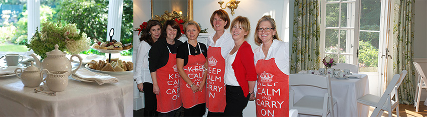 The Fabulous Girls serving Afternoon Tea at the Darien Community Association
