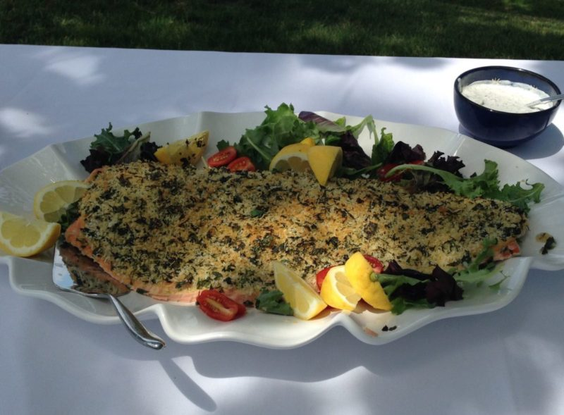 Absolutely Fabulous Oven Roasted Salmon with Parsley Crust