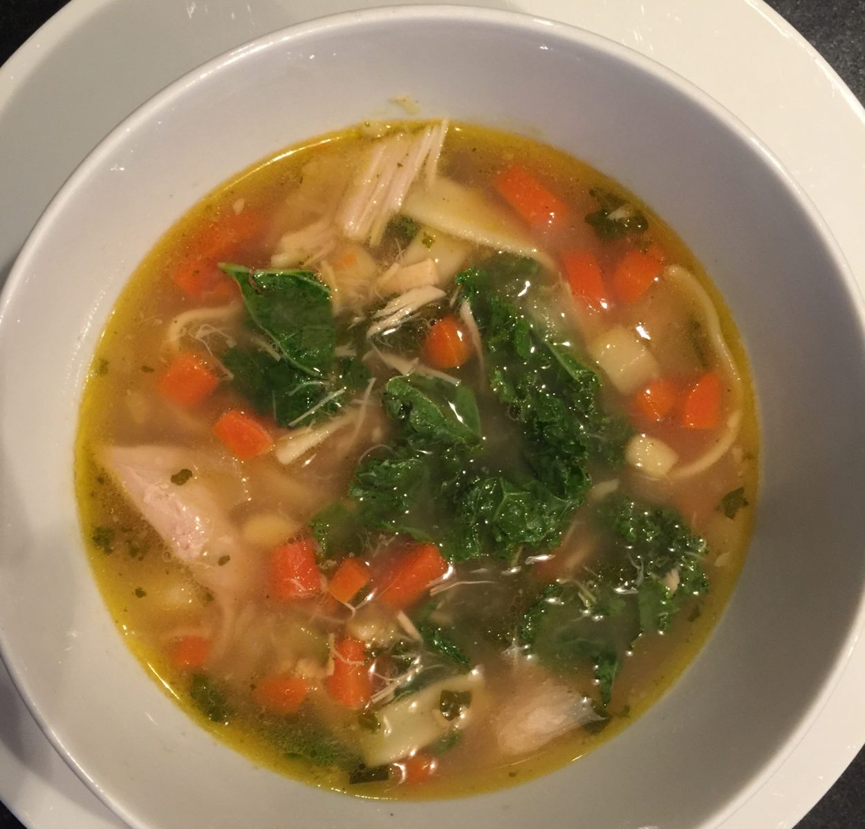 Chicken  and Vegetable soup (with Kale)