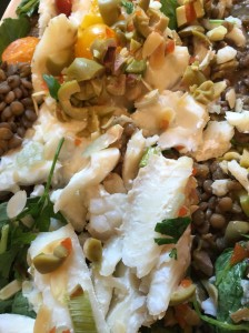 Cod with Lentils