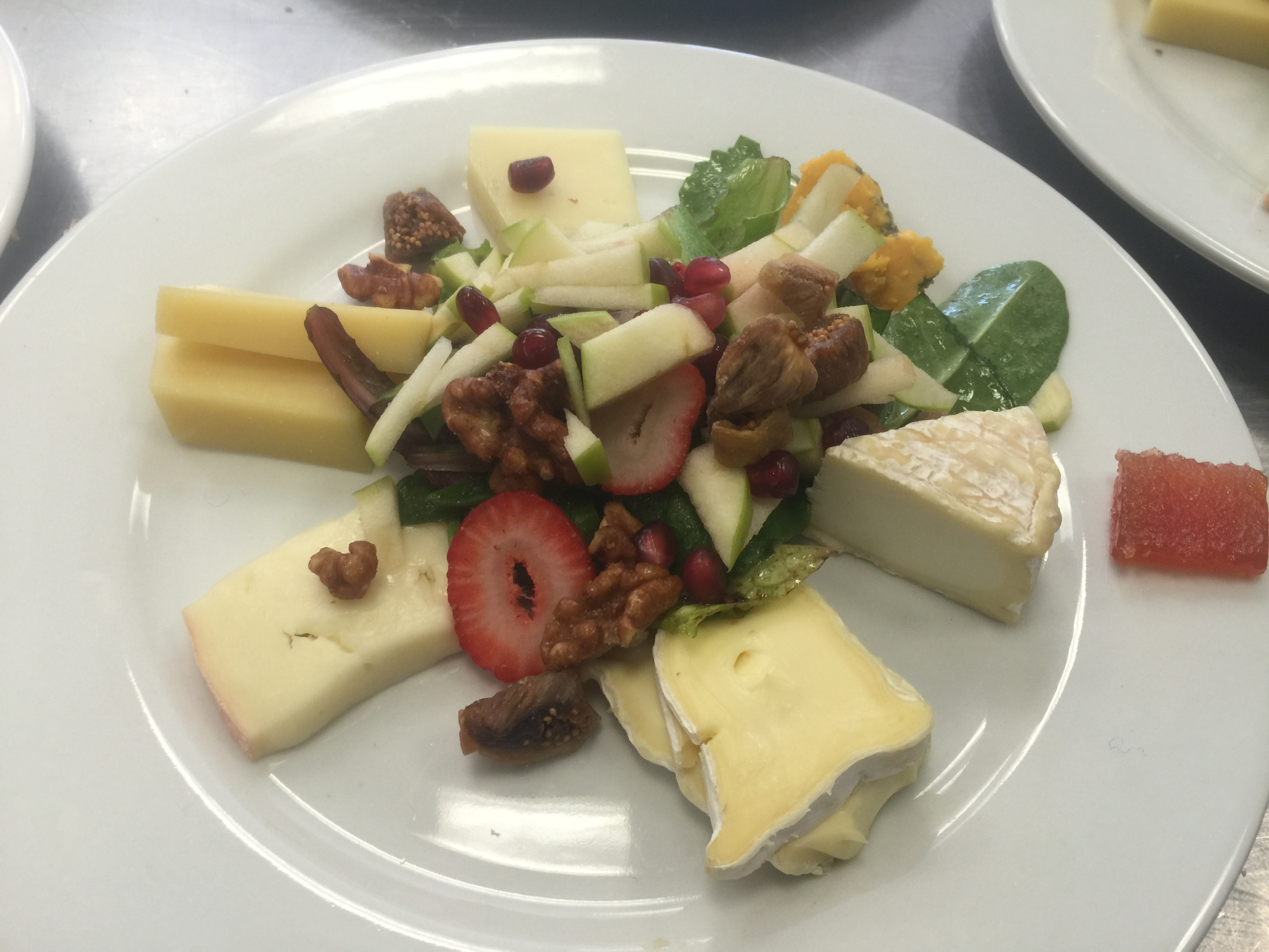 Darien Cheese Shop Cheese Plate and Salad