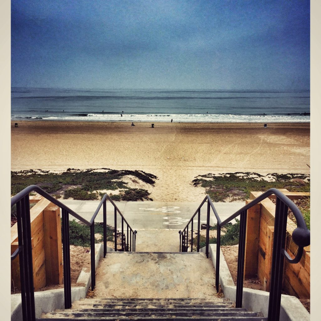 Steps to Manhattan Beach