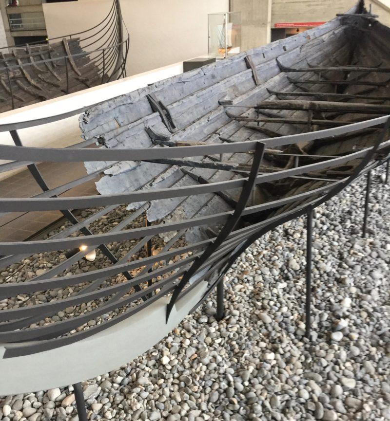 remains of Viking long boat at Roskilde Viking Museum