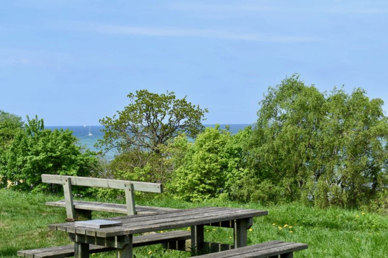 Picnic table at Gilleleje