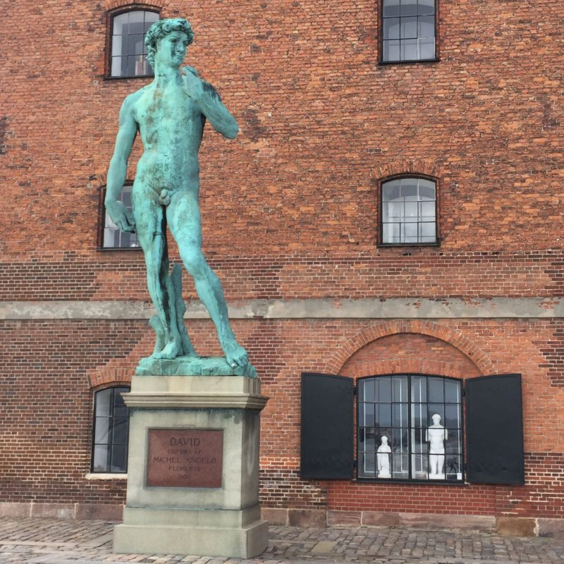 Copy of Michaelangeleo's David in Copenhgagen