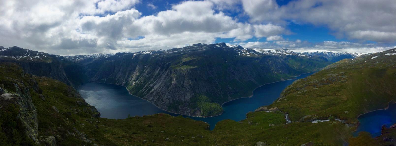 Troll Tunga and Lake Ringedalsvatnet