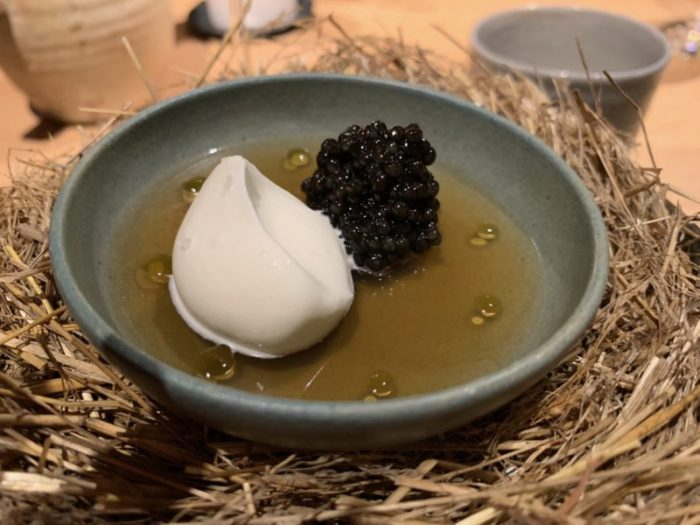 Pheasant broth with caviar