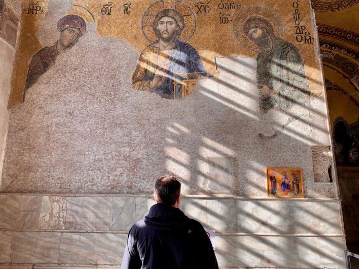 Christian Mosaic in the Aya Sophia