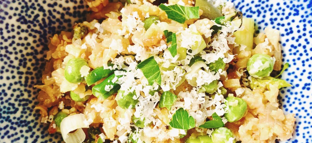 So, what exactly do we do with riced cauliflower?