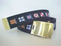Reversible Navy Code Flag Web Belt & brass buckle