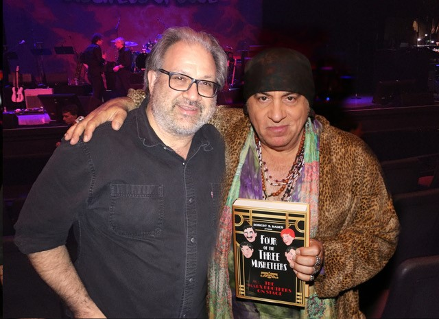 "The author with musician, actor, disc jockey, Rock & Roll Hall of Fame member, and Marx Brothers fan, Steven Van Zandt. According to Van Zandt, ""the Marx Brothers were the first rock band."" His band Little Steven and the Disciples of Soul recently played the historic Orpheum Theater in Los Angeles, which opened in its third location (842 S. Broadway) on February 15, 1926. The Chico Marx Orchestra played there in August 1942 and June 1943. The Marx Brothers played at the previous location of the Orpheum (630 S. Broadway) five times: September 1911, October 1915, February 1918, April 1920 and March 1922. (The first location of the Orpheum in Los Angeles - 227 S. Spring Street - operated from 1903 until 1911. The Marx Brothers never played there.)"
