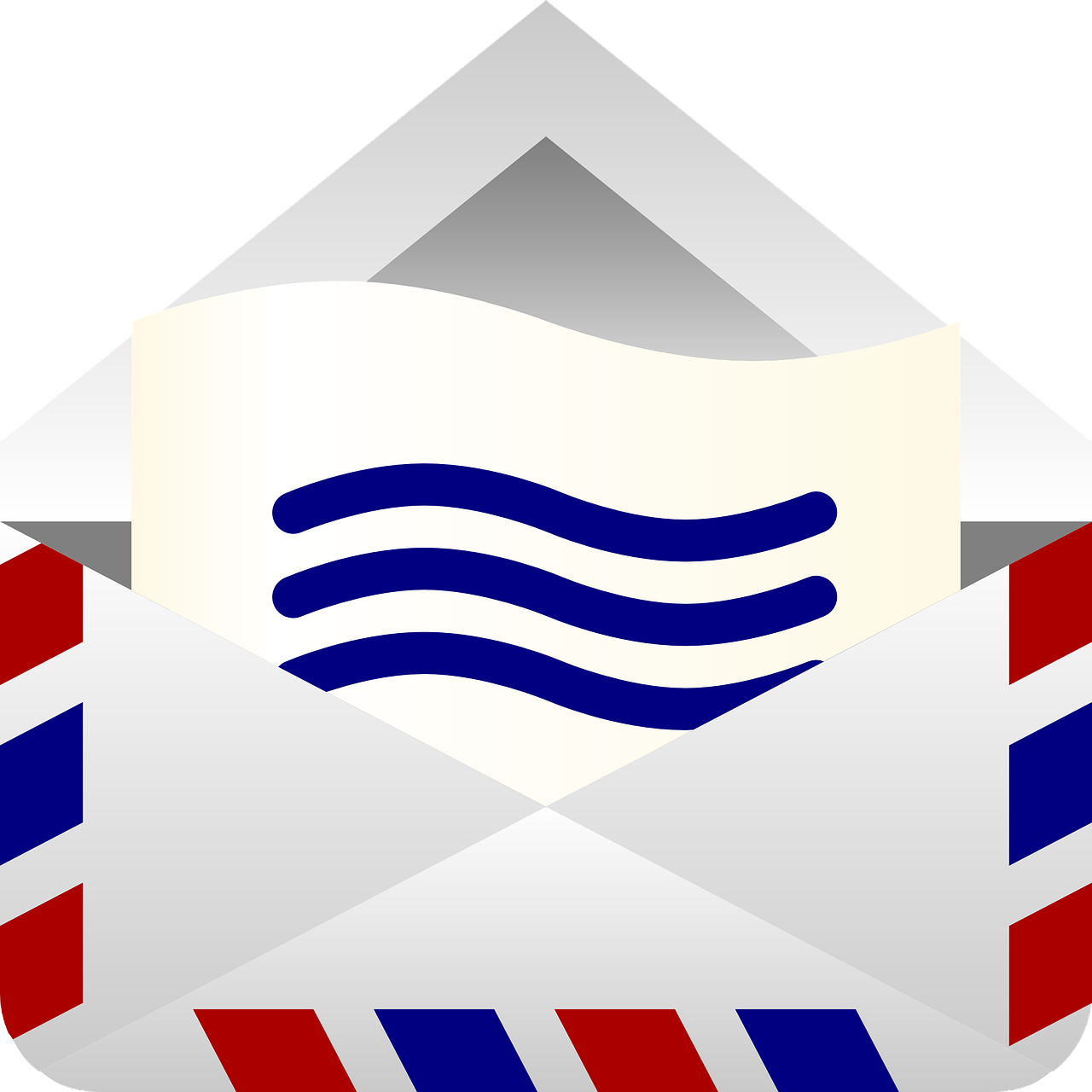 envelope, mail, open