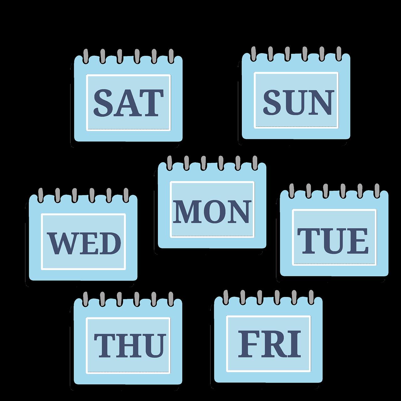 time management, week, calendar
