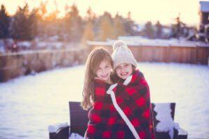 Uma família no Canadá batalhando no college