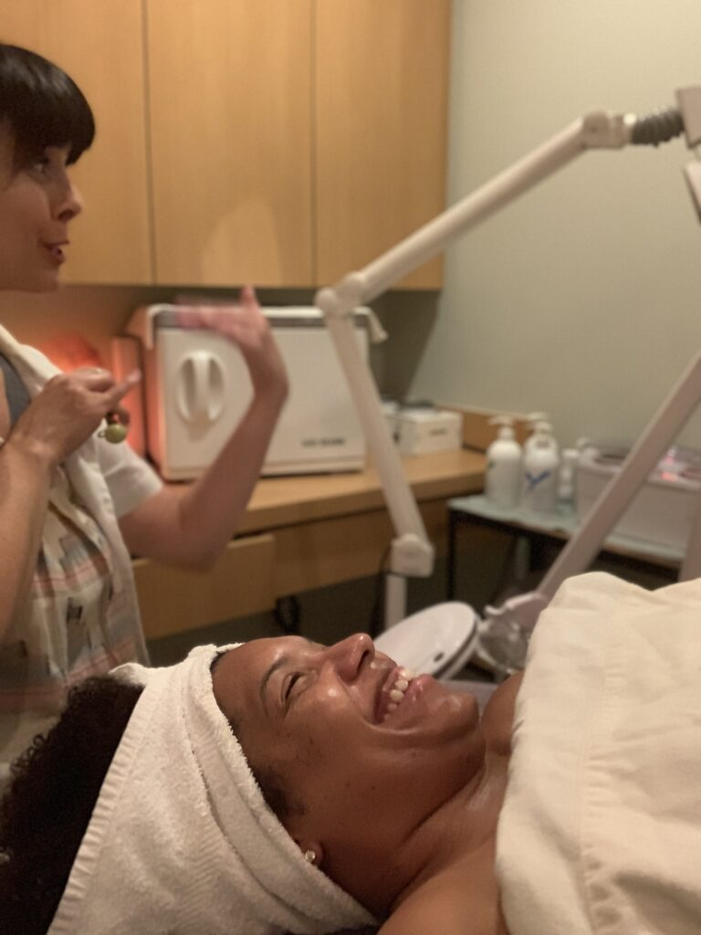 The Glow Facial at Earthsavers - image  on https://iamtheflywidow.com