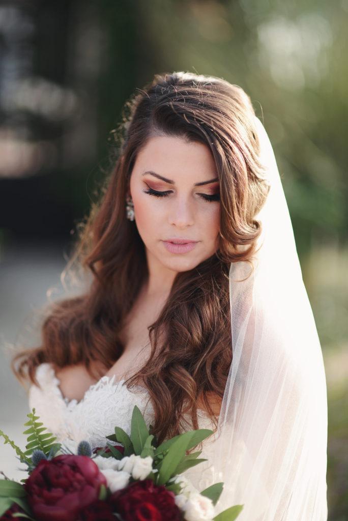romanitc bride photo