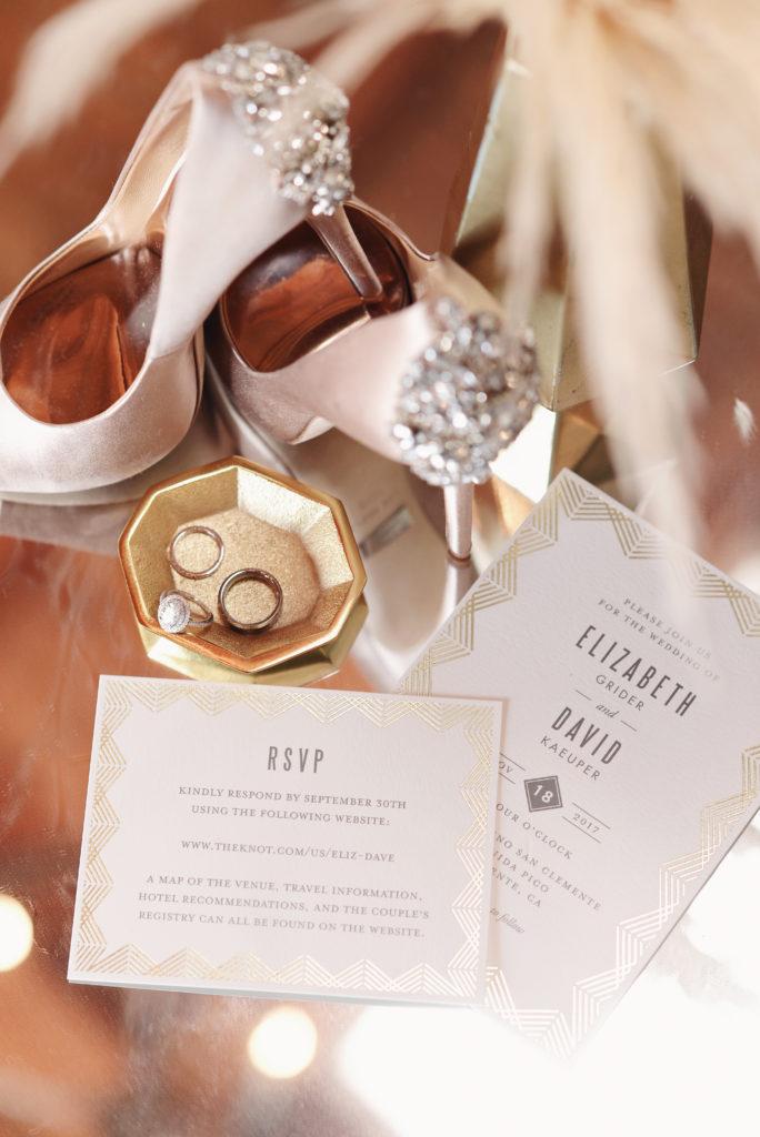 wedding shoes, bridal accessories, wedding invitation
