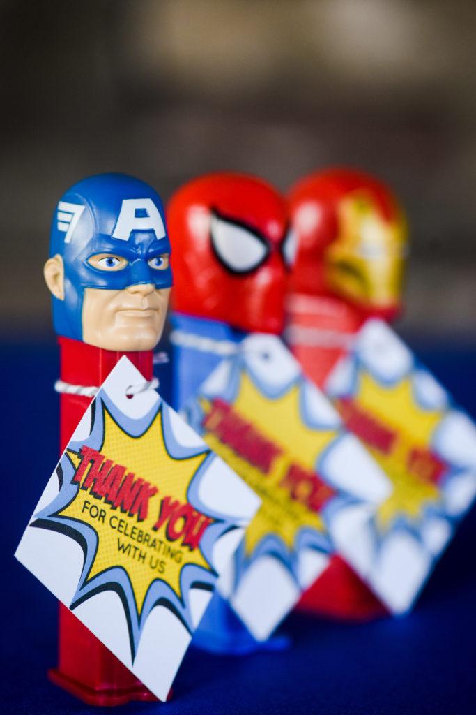Super hero pez dispenser wedding favors