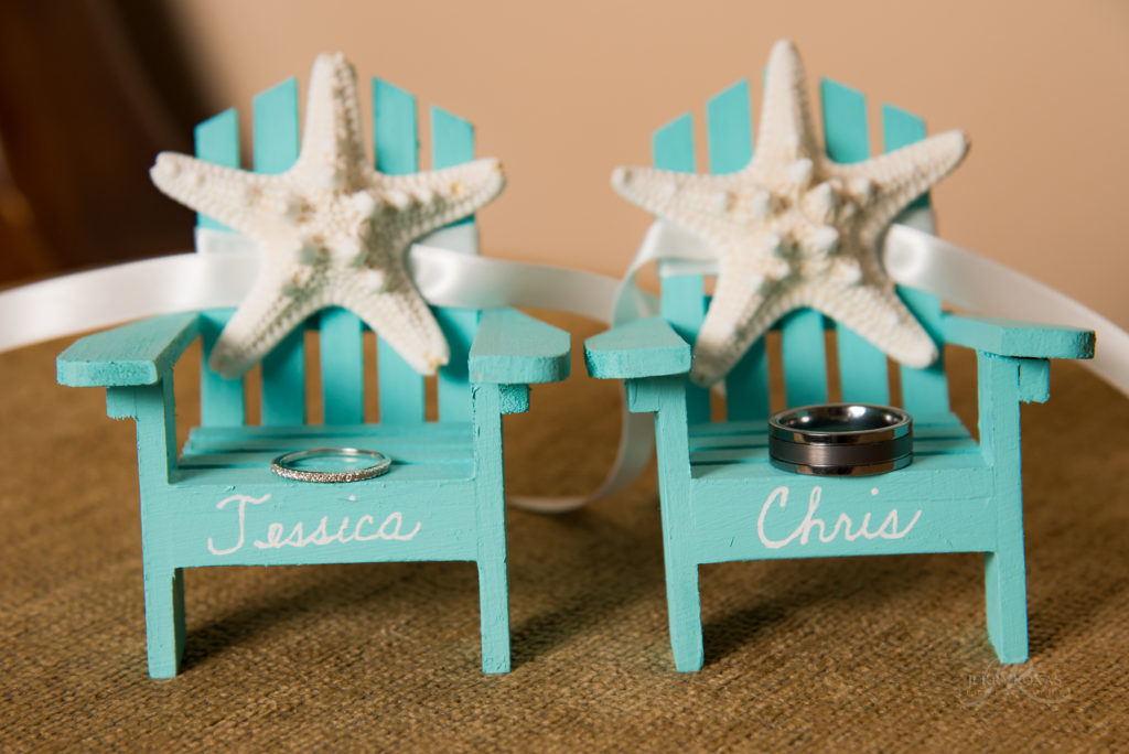 weding rings, beach wedding decor