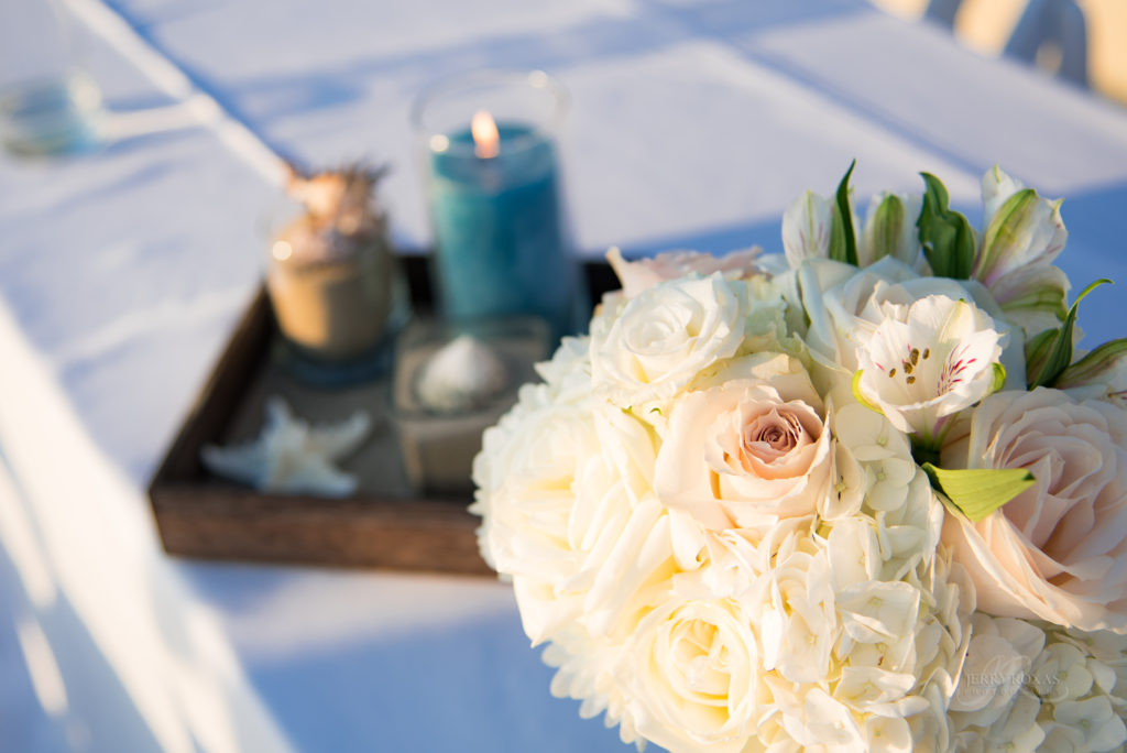 beach wedding tablescape