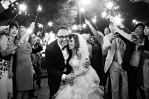 san diego wedding, sparklers