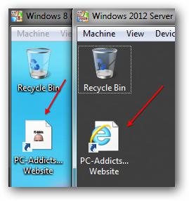 Windows 8 Server 2012 Deploy Shortcut Icons