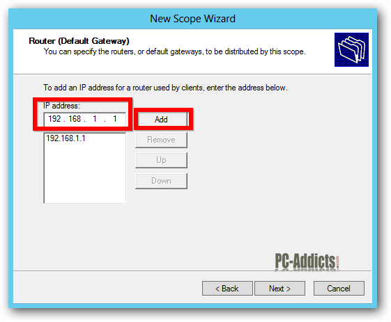 Server 2012 DHCP Router IP